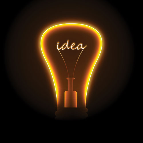 idea in a lightbulb